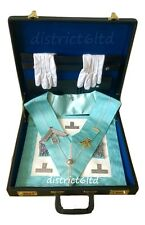 masonic regalia-CRAFT WORSHIPFUL MASTER (WM) PAST MASTER COMPLETE PACKAGE + CASE