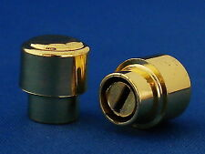 GOLD ROUND KNOB FITS USA. FOR FENDER TELECASTER