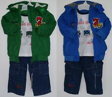 Baby Boys Winter Outfit 3 Piece Set Padded Jacket Jumper Trouser 6-24 Months New