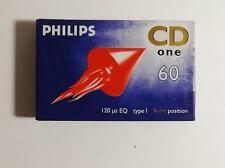 PHILIPS BLANK CASSETTE TAPE CD ONE 60MIN BRAND NEW & SEALED FREE POSTAGE
