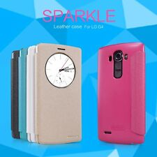 """Nillkin Sparkle Quickcircle Window View Leather Case Flip Cover For LG G4 5.5"""""""