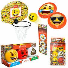 Emoji Sport Games Gift Fun Golf Balls, Basketball, Kids Balls, Novelty Party Toy