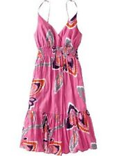 NWT OLD NAVY FLORAL BROOMSTICK GAUZE CABANA DRESS PINK S M