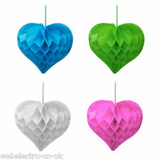 11400A Wedding Party Tissue Paper Pompoms Pom Poms Honeycombs Hearts Decorations