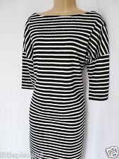 BNWT NEXT new Ladies Black and white nautical stripe textured slouch tunic dress