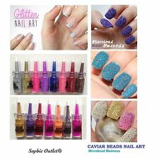FINE GLITTER CRYSTALS Nail Art Beads Dust Decor Manicure BOTTLES + TIP Gift B3