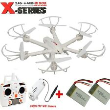 2 Batteries MJX X600 FPV Drone Quadcopter 2.4G 6-Axis RC Helicopter+ WIFI Camera
