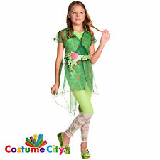 Childs Official DC Superhero Girls Deluxe Poison Ivy Fancy Dress Party Costume