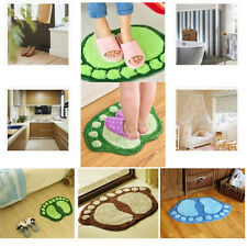 Bathroom Bedroom Bath Rug Wool Carpet Non-Slip Floor Absorbent Soft Shower Mat