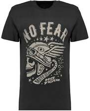 Branded T-Shirts Mens Black No Fear Moto Glory Print Short Sleeve T-Shirt Tee