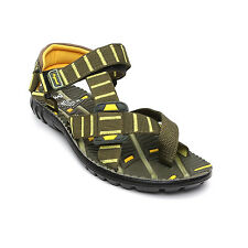 Lee Cooper Brand Mens Olive Yellow Casual Sports Sandal - LC 1178