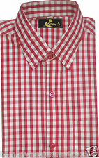 Red checks shirt for men half and full casual formal