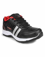 COLUMBUS BRAND MENS BLACK RED CASUAL LACE SPORTS SHOES TAB-11