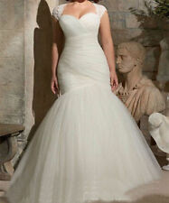 New  White Mermaid Bridal Gown Wedding Dress Dresses Size 6-8-10-12-14-16