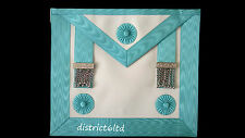 masonic regalia-CRAFT MASTER MASON (MM) APRON (LAMBSKIN) TOP QUALITY+FREE GLOVES