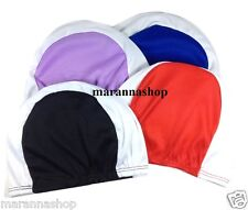 SWIM CAP SWIMMING POOL FABRIC UNISEX COMPETITION OLYMPIC