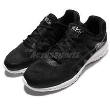 FILA Memory Finity Black White Mens Running Shoes Sneakers Trainers 1-J587Q-003