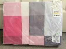 NEXT -2 PACK SINGLE BEDSETS IN PINK & WHITE/MAUVE GREY SQUARE CHECKS - BNWT