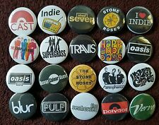 90's Indie Britpop Button Badges.  25 mm in size.  :0)