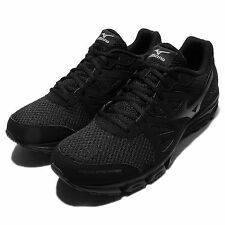 Mizuno Synchro MD Black Mens Running Shoes Trainers Sneakers J1GE1618-20