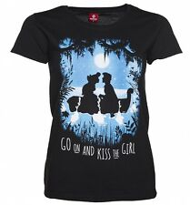 Women's Black Disney The Little Mermaid Boat T-Shirt