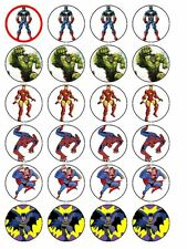 24 x Superhero Cup Cake Toppers (Precut Available)