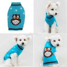 Pet Clothes Dog Sweater Coat Puppy Apparel Owl Pattern Outwear Jumper Chihuahua