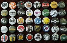 Indie Rock 90's Button Badges (Collection 1).  25mm in Size. :0)