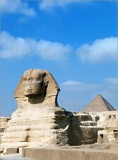 Poster / Leinwandbild The Great Sphinx and pyramids of Giza on ... - A. Saberi