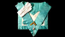 masonic regalia-CRAFT MASTER MASON PACKAGE (APRON+COLLAR+JEWEL+GLOVES)