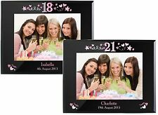Personalised Girls 18th & 21st 5x7 Birthday Black Photo Frames Gift Idea For Her