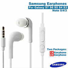 Samsung Earphones Handsfree android Galaxy S6 Edge S5 S4 S3 NOTE 5 4 3 A7 J7 lot