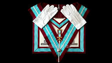 masonic regalia-MARK PAST MASTER (WM) APRON PACKAGE (APRON+COLLAR+JEWEL+GLOVES)