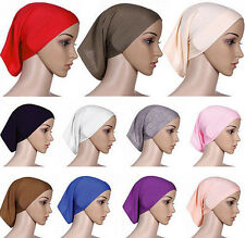 Muslim Hijab Headwrap Underscarf Women Cover Islamic Cotton Bonnet Head Scarf