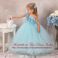 BLUE ELSA TUTU DRESS FOR GIRL INFANTS - BIRTHDAY, PARTY, FREE BAND