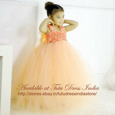 PEACH TUTU DRESS FOR GIRL INFANTS - BIRTHDAY, PARTY, FREE BAND