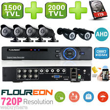 1TB 8CH AHD DVR HDMI Outdoor 1500TVL/2000TVL CCTV Video Security Camera System