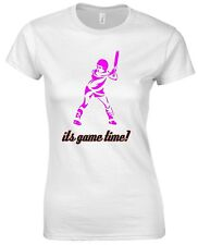 It's Game Time Softball Baseball Hockey Sports Olympics Game Womens T shirt