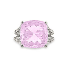 925 Sterling Silver Amazing Pink Amethyst Cocktail Engagement Ring For Gifting