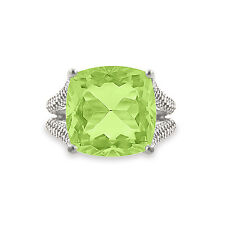 Silver Dew 925 Sterling Silver Amazing Peridot Cocktail Engagement Ring For Wife