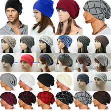 Mens Womens Beanie Caps Knitted Winter Warm Hip-Hop Baggy Slouch Ski Hats Unisex