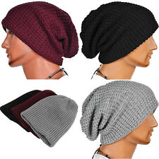 Beanie Skull Baggy Caps Mens Warm Oversize Winter Slouchy Knit Ski Hats Unisex