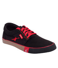 Sparx Brand Mens Black Red Casual Canvas Sneakers Shoes SM175