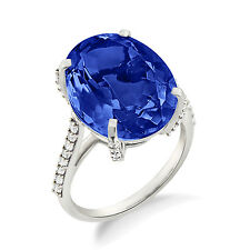 Cocktail Blue Sapphire Contemporary Engagement Ring For Gifting Purpose To Her