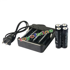 8x 3.7V 18650 6000mAh Li-ion Rechargeable Battery for LED Torch + Smart Charger