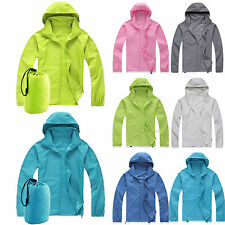 Womens Mens Rain Mac Raincoats Hooded Waterproof Windproof Parka Jacket Outdoor