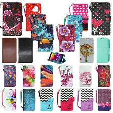 For BLU Studio Phone - Flip Card PU Leather Wallet Case Hybrid Folio Pouch Cover