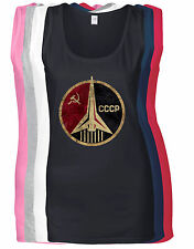 CCCP RUSSIAN SOVIET USSR HAMMER AND SICKLE LADIES VEST
