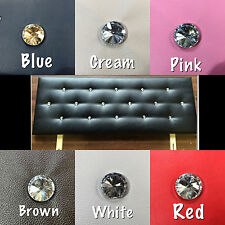 FAUX LEATHER VICTORIA DIAMANTE HEADBOARD ALL SIZES AND COLOURS CHEAPEST ON EBAY