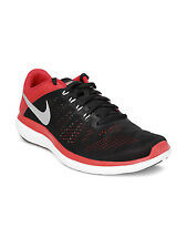 Nike Brand Mens Original Flex 2016 Black Red Running Sports Shoes
